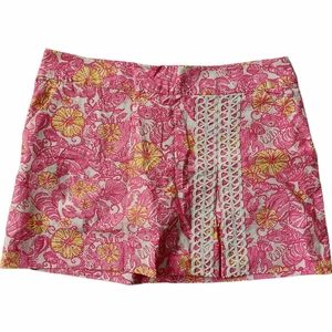Lily Pulitzer floral fish skort with lace detail
